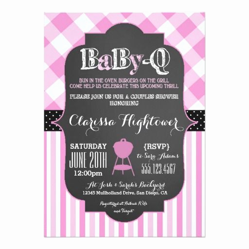 Couple Baby Shower Invitation Inspirational Babyq Bbq Baby Shower Invitation Couples Girl Pink