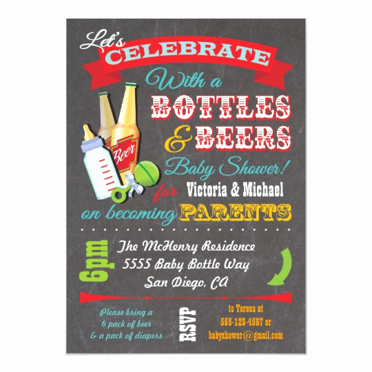 Couple Baby Shower Invitation Lovely Bottles and Beer Couples Baby Shower Invitations