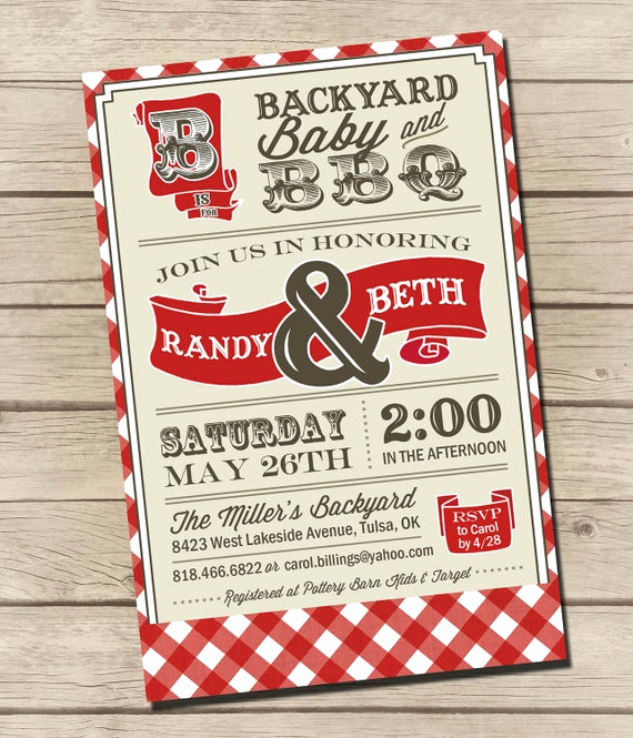 Couple Baby Shower Invitation Lovely Printable Couples Bbq Baby Shower Invitation by Urbanfrontiers