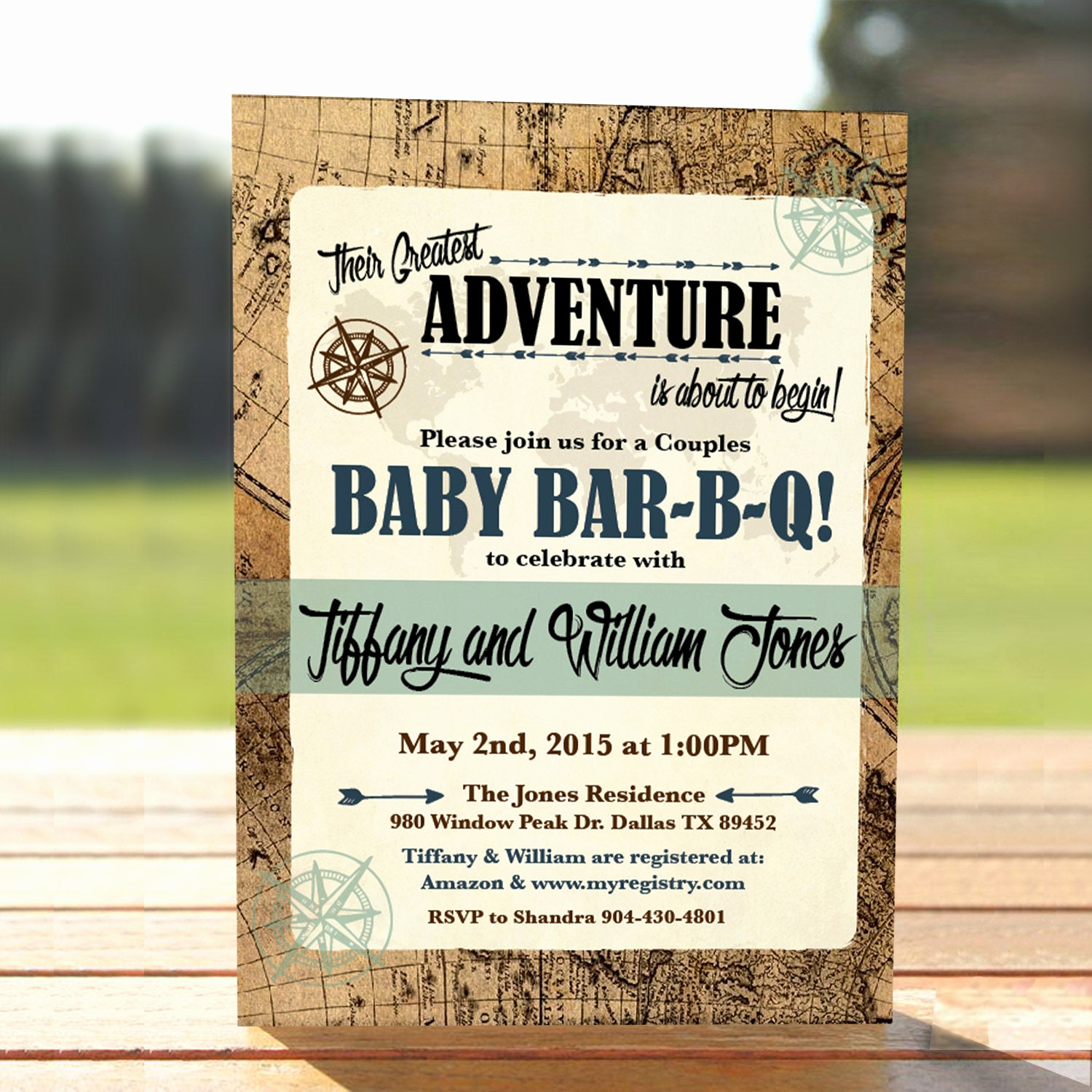 Couple Baby Shower Invitation Lovely Vintage Map Couples Baby Shower Invitation Adventure Baby