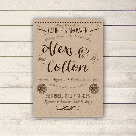 Couple Baby Shower Invitation Luxury Couples Shower Invitation Rustic Couples Shower