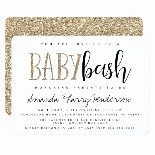 Couple Baby Shower Invitation New Baby Bash Couples Baby Shower Invitation