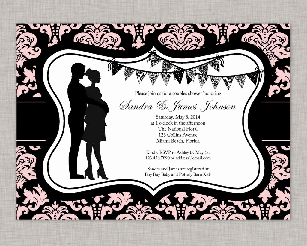 Couple Baby Shower Invitation New Couples Baby Shower Invitation Girl Baby Shower Invitation