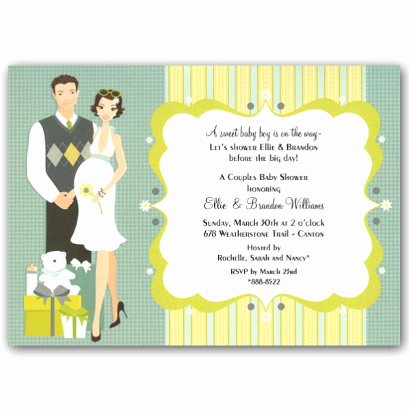 Couple Baby Shower Invitation Unique Happy Couple Blue Baby Shower Invitations Clearance