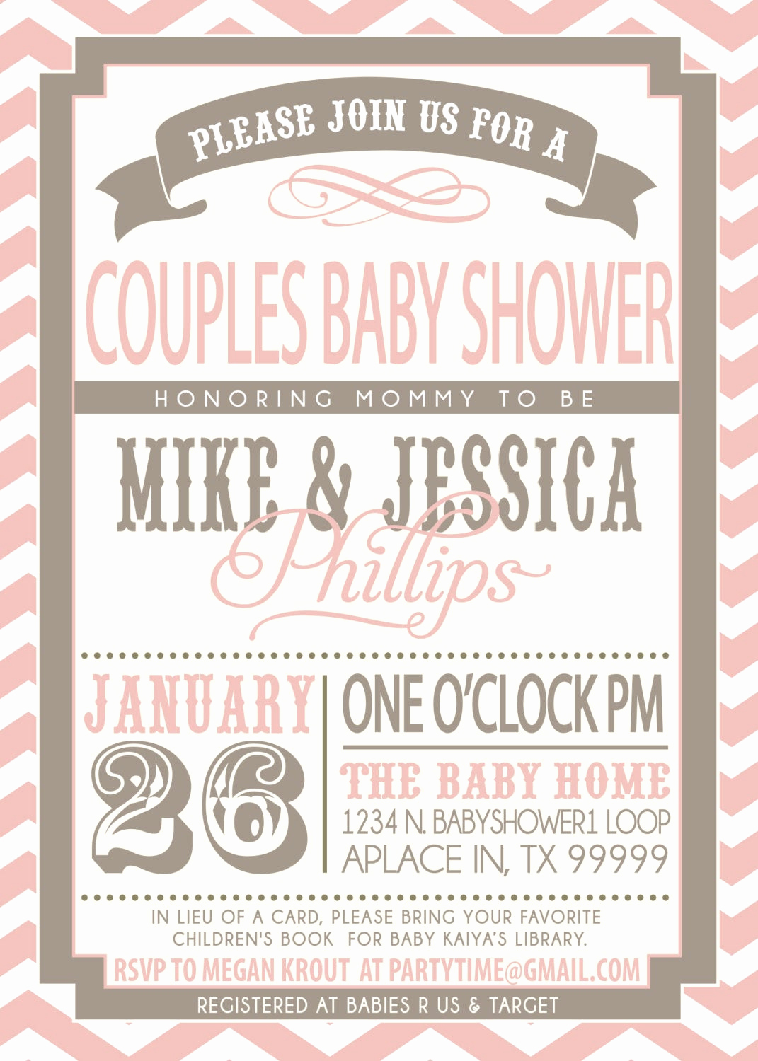 Couple Baby Shower Invitation Unique On Sale Couples Baby Shower Invitation Pink and Grey