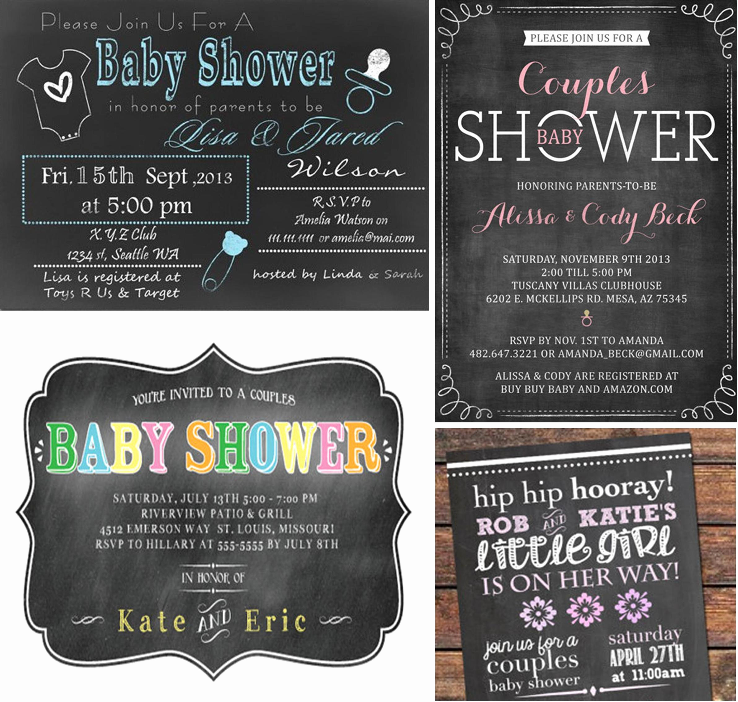 Couple Baby Shower Invitation Wording Awesome Couples Baby Shower Invitations