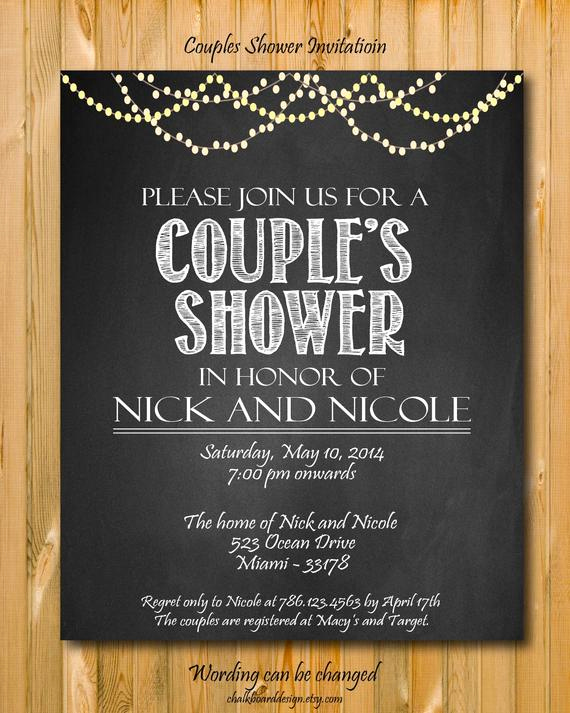 Couple Baby Shower Invitation Wording Awesome Printable Couples Shower Invitation Custom Party