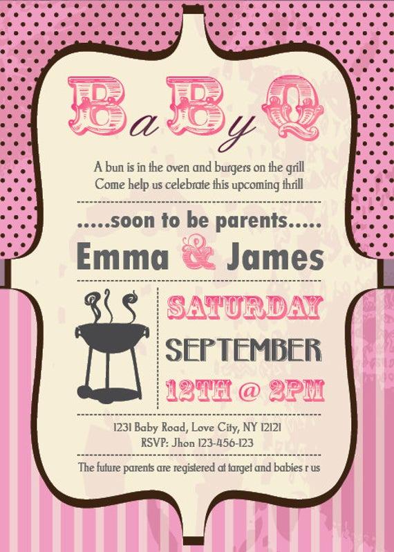 Couple Baby Shower Invitation Wording Beautiful Items Similar to Baby Shower Bbq Invitation Couples Girl