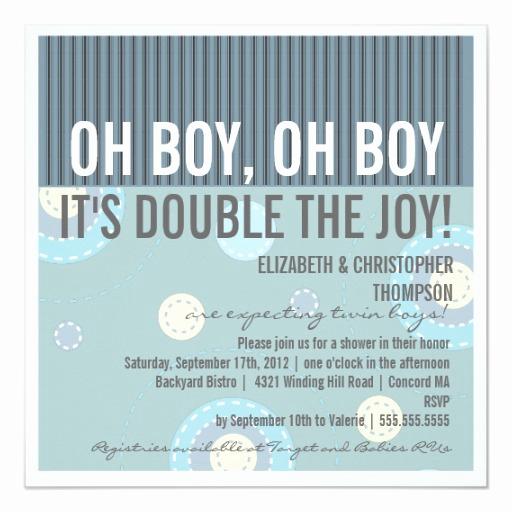 Couple Baby Shower Invitation Wording Elegant Modern Couples Twin Boy Baby Shower Invitation