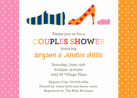 Couple Baby Shower Invitation Wording Unique Items Similar to Pink Shoes Couples Baby Shower Invitation