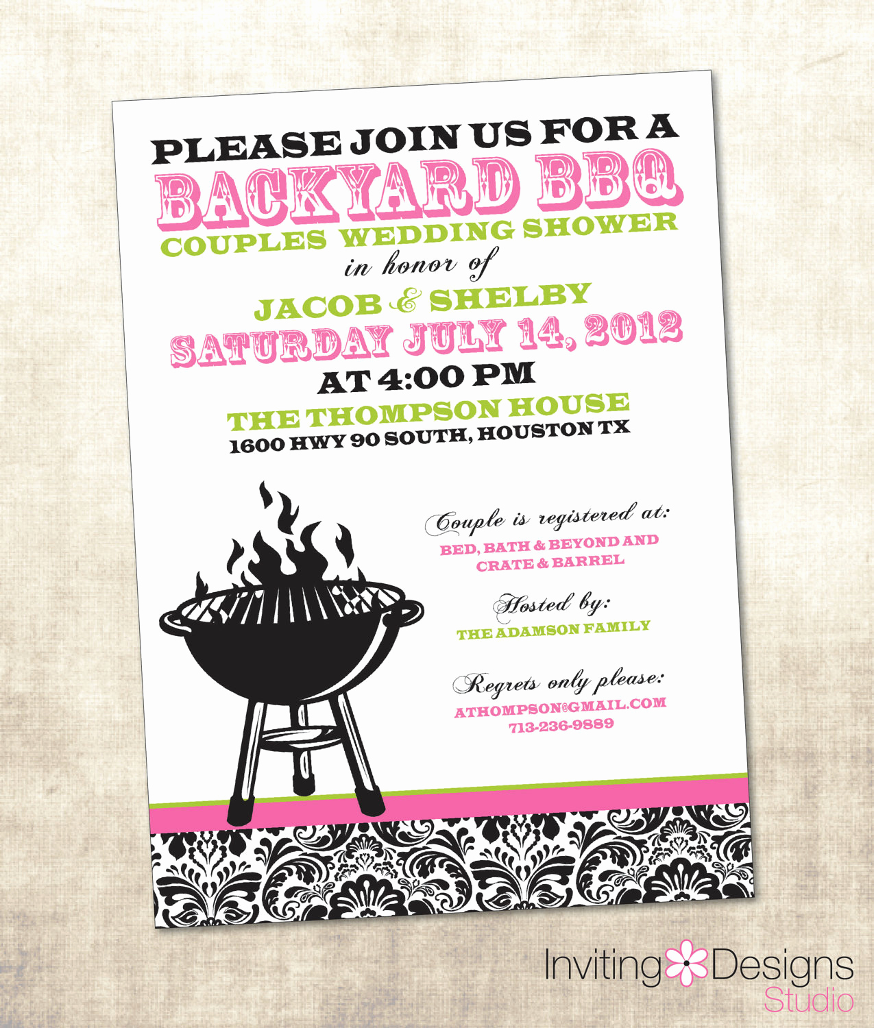 Couple Shower Invitation Wording Awesome Bbq Wedding Shower Invitation Couples Shower Invitation