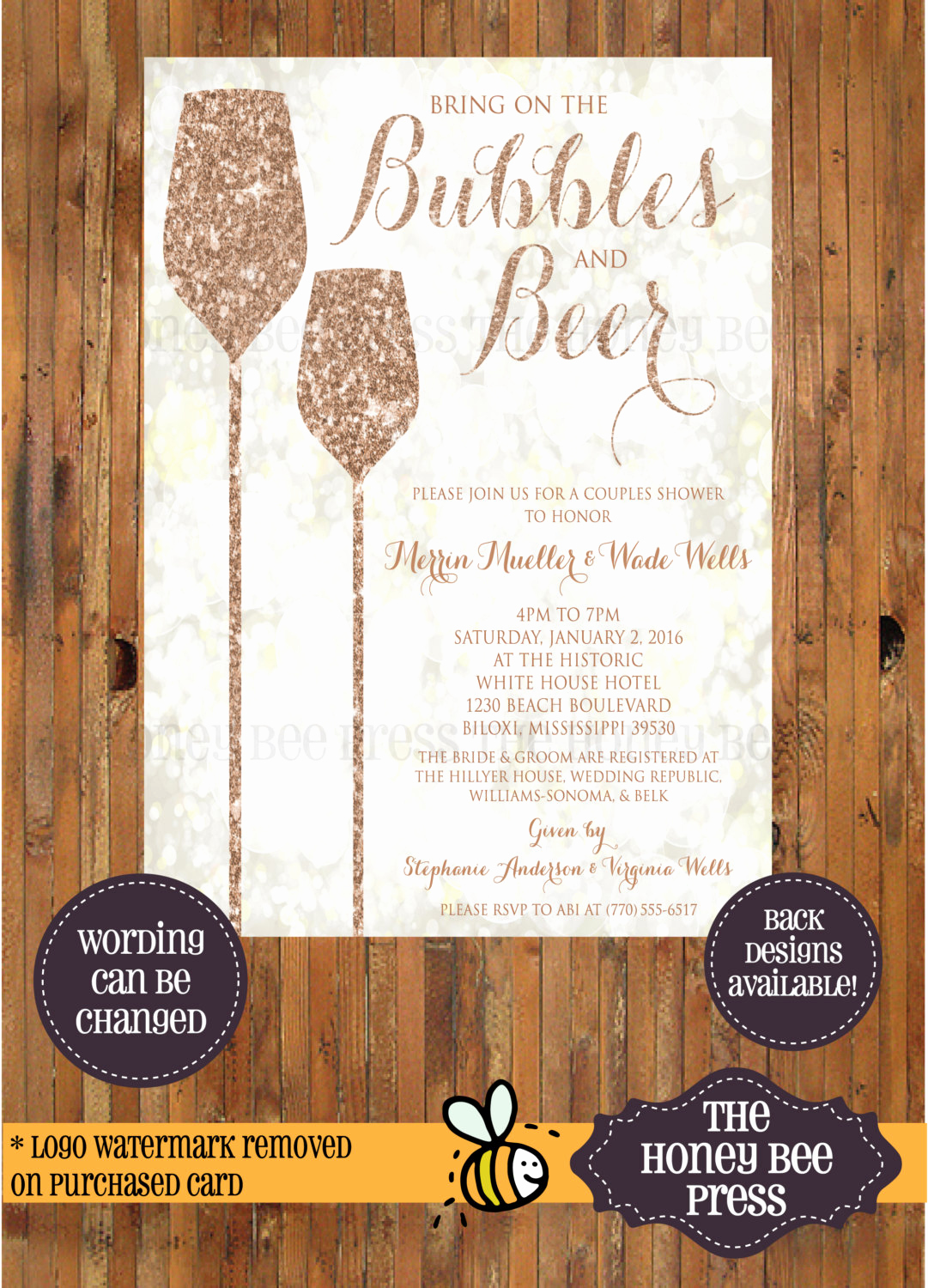 Couple Shower Invitation Wording Awesome Bubbles and Beer Bubbles and Bliss Brunch and Bubbly