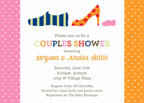 Couple Shower Invitation Wording Best Of Items Similar to Pink Shoes Couples Baby Shower Invitation
