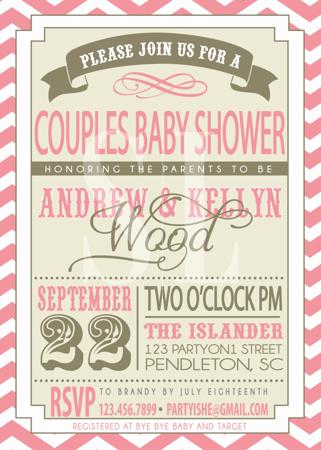 Couple Shower Invitation Wording Best Of On Sale Couples Baby Shower Invitation