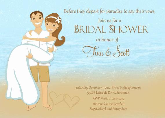 Couple Shower Invitation Wording Elegant Beach Couple Shower Bridal Shower Invitation Printable