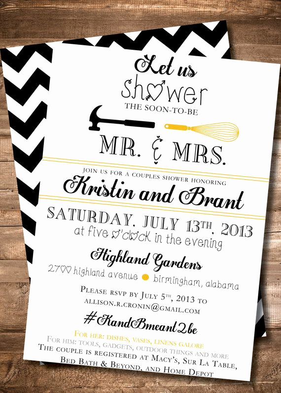 Couple Shower Invitation Wording Fresh Couples Shower Invitation