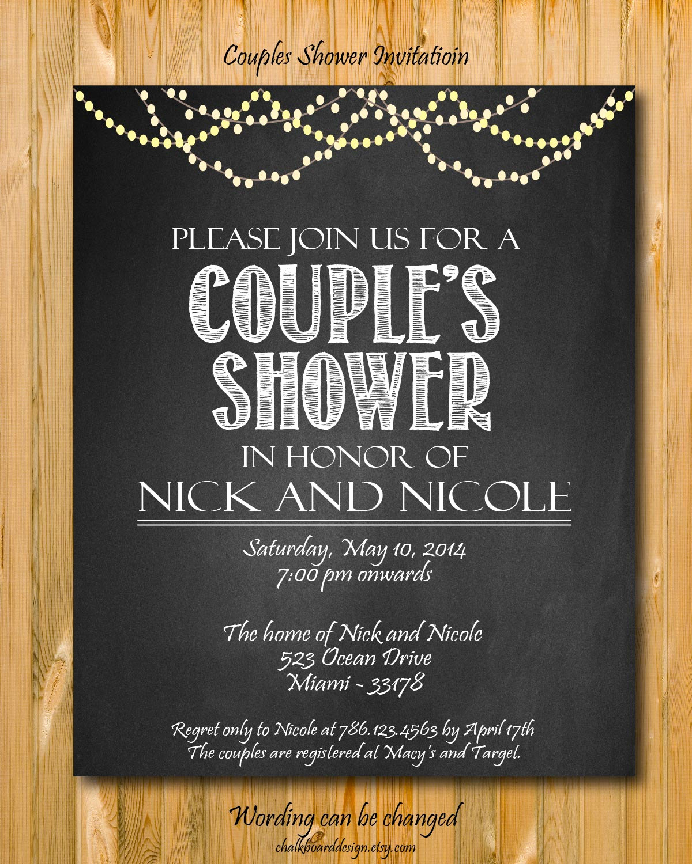 Couple Shower Invitation Wording Fresh Printable Couples Shower Invitation Diy Party Invitation
