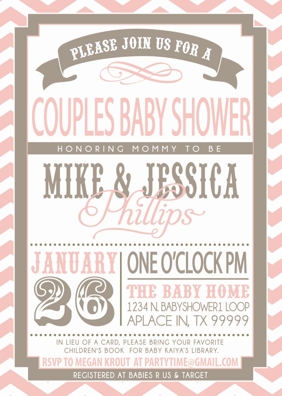Couple Shower Invitation Wording Lovely On Sale Couples Baby Shower Invitation Pink and Grey