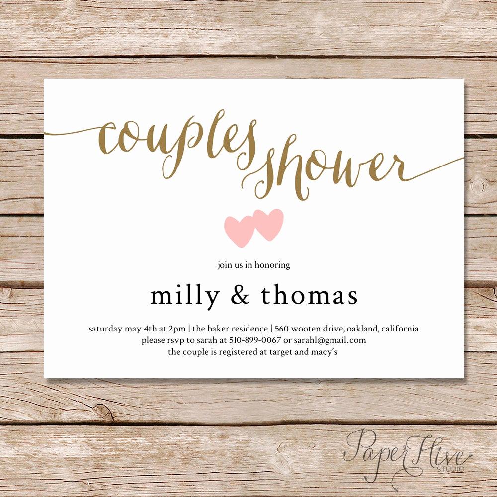 Couple Shower Invitation Wording Luxury Couples Shower Invitation Couples Wedding Shower Invite