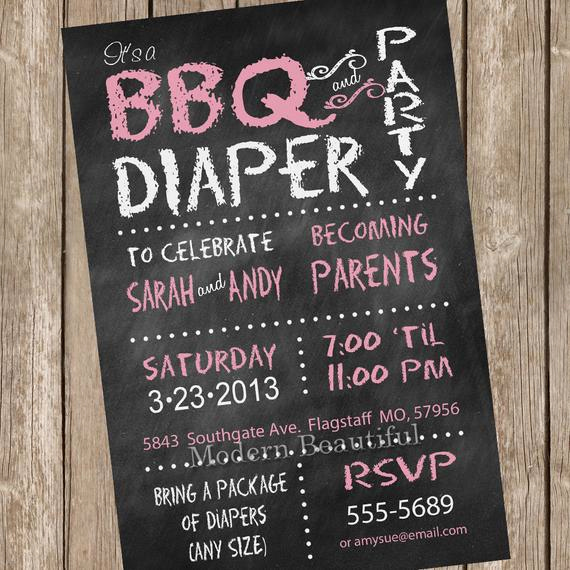 Couples Baby Shower Invitation Wording Inspirational Chalkboard Couples Bbq and Diaper Baby Shower Invitation
