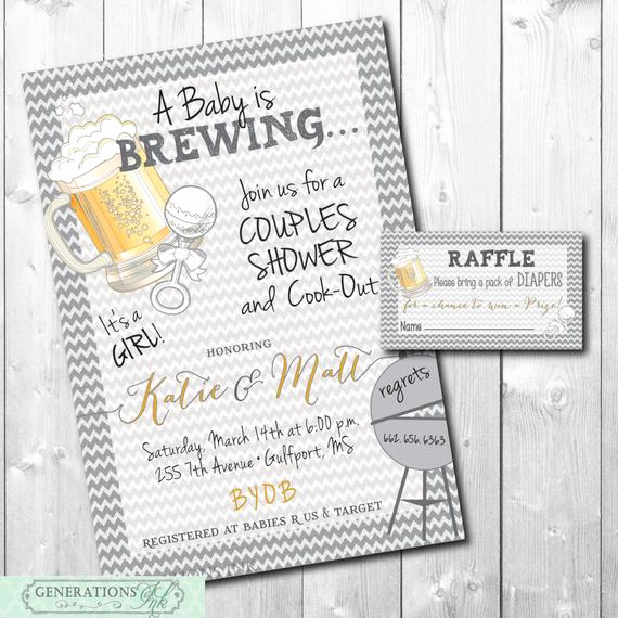 Couples Baby Shower Invitation Wording New Couples Baby Shower Invitation with Diaper Raffle