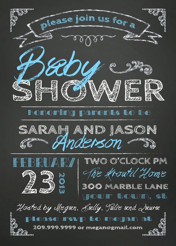 Couples Baby Shower Invitation Wording New Items Similar to Couples Baby Shower Invitation