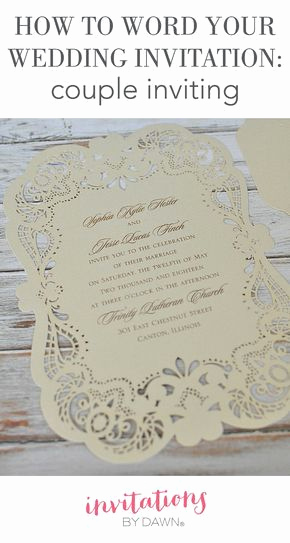Couples Hosting Wedding Invitation Wording Lovely 25 Best Ideas About How to Word Wedding Invitations On