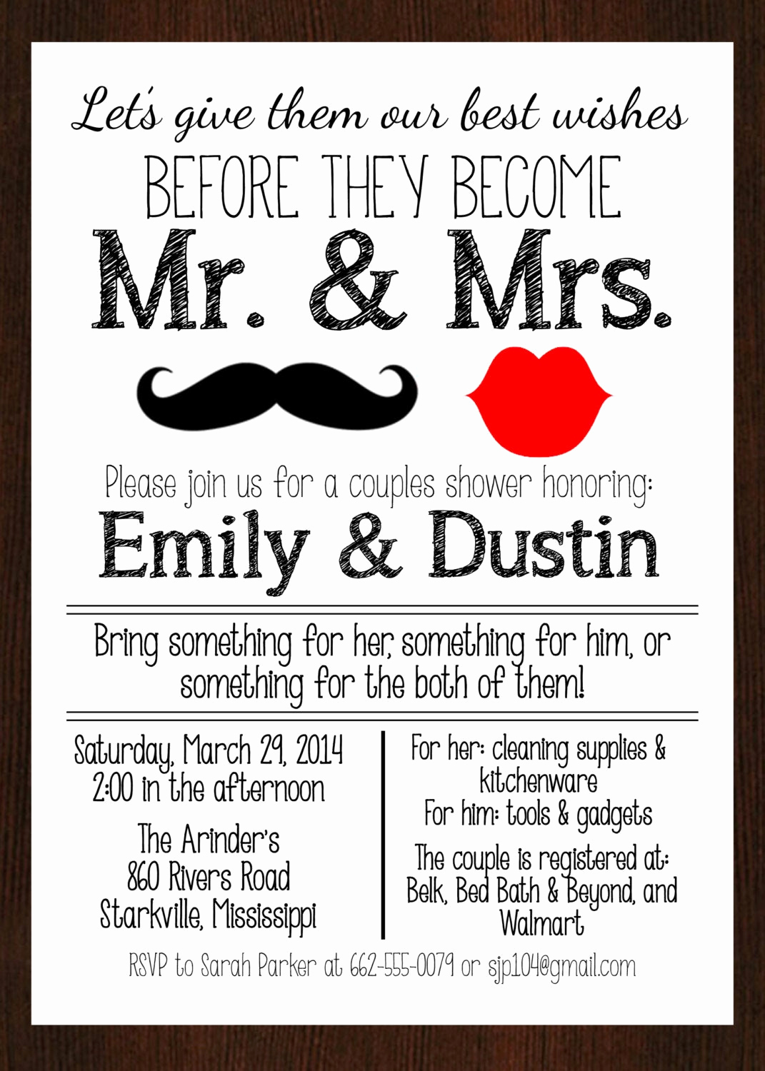 Couples Shower Invitation Templates Beautiful Printable Mr & Mrs Couples Wedding Shower Invitation Lips