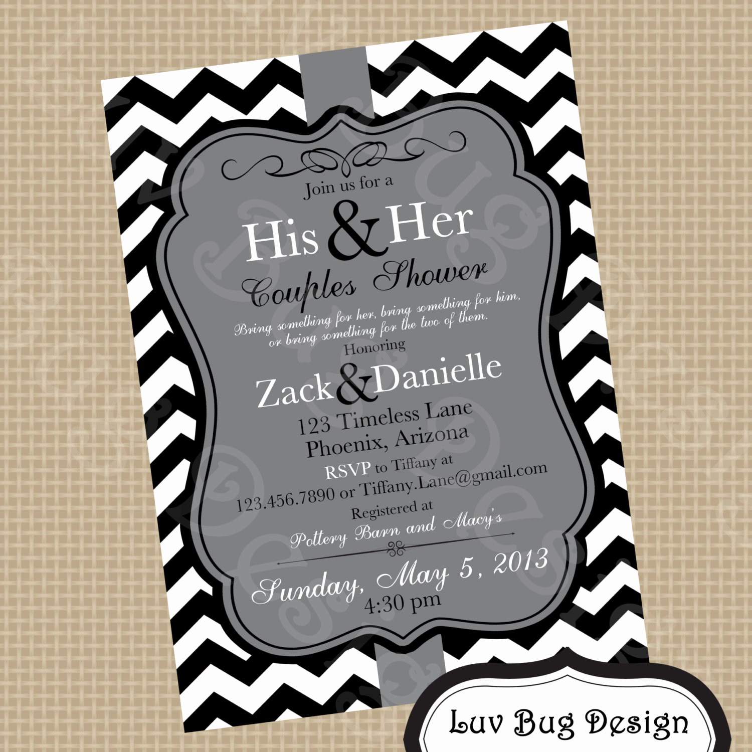 Couples Shower Invitation Templates Best Of Printable Gray themed Couples Shower or Bridal by Luvbugdesign