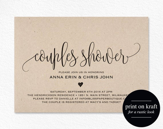 Couples Shower Invitation Templates Free Fresh Couples Shower Invitation Couple Shower Wedding Shower
