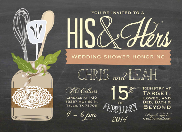 Couples Shower Invitation Templates Free Inspirational 27 Wedding Shower Invitation Templates – Free Sample