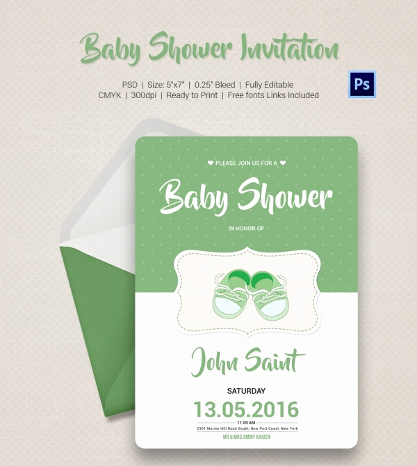 Couples Shower Invitation Templates Free Inspirational Baby Shower Invitation Template 22 Free Psd Vector Eps
