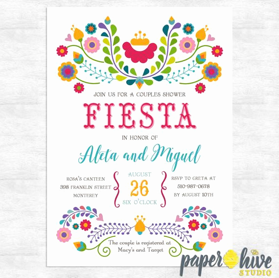 Couples Shower Invitation Templates Free Lovely Fiesta Invitation Fiesta Couples Shower Invitations Cinco