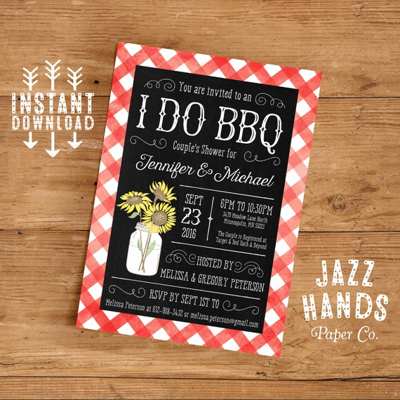Couples Shower Invitation Templates Free Unique Printable I Do Bbq Couples Shower Invitation Template Diy