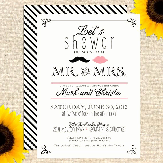 Couples Shower Invitation Templates Fresh Free Bridal Shower Invitations