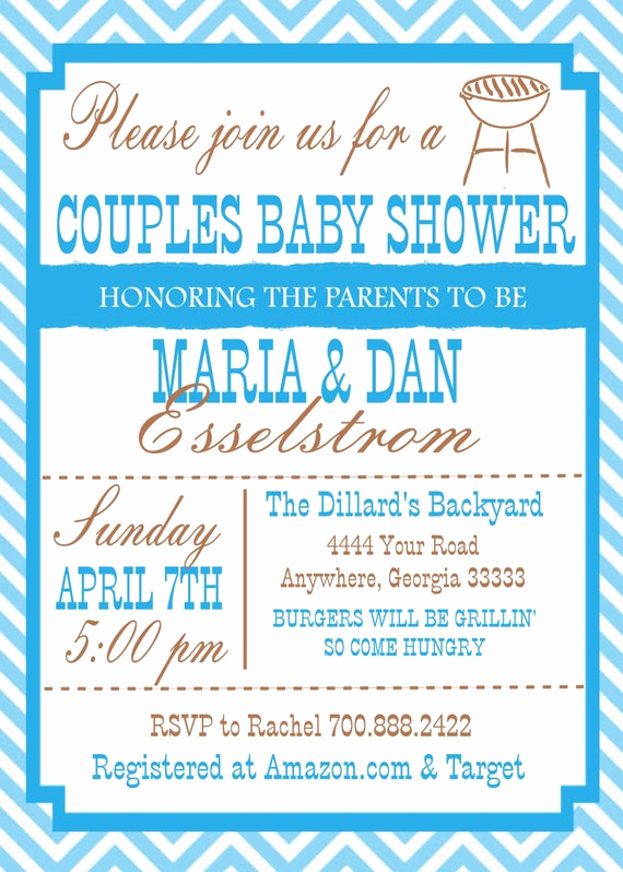 Couples Shower Invitation Templates Lovely Items Similar to Couple Baby Shower Invitation On Etsy