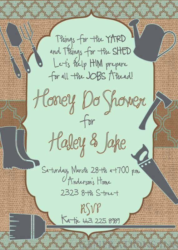 Couples Shower Invitation Templates Luxury Honey Do Shower Invitation Printable Bbq Couples Cookout
