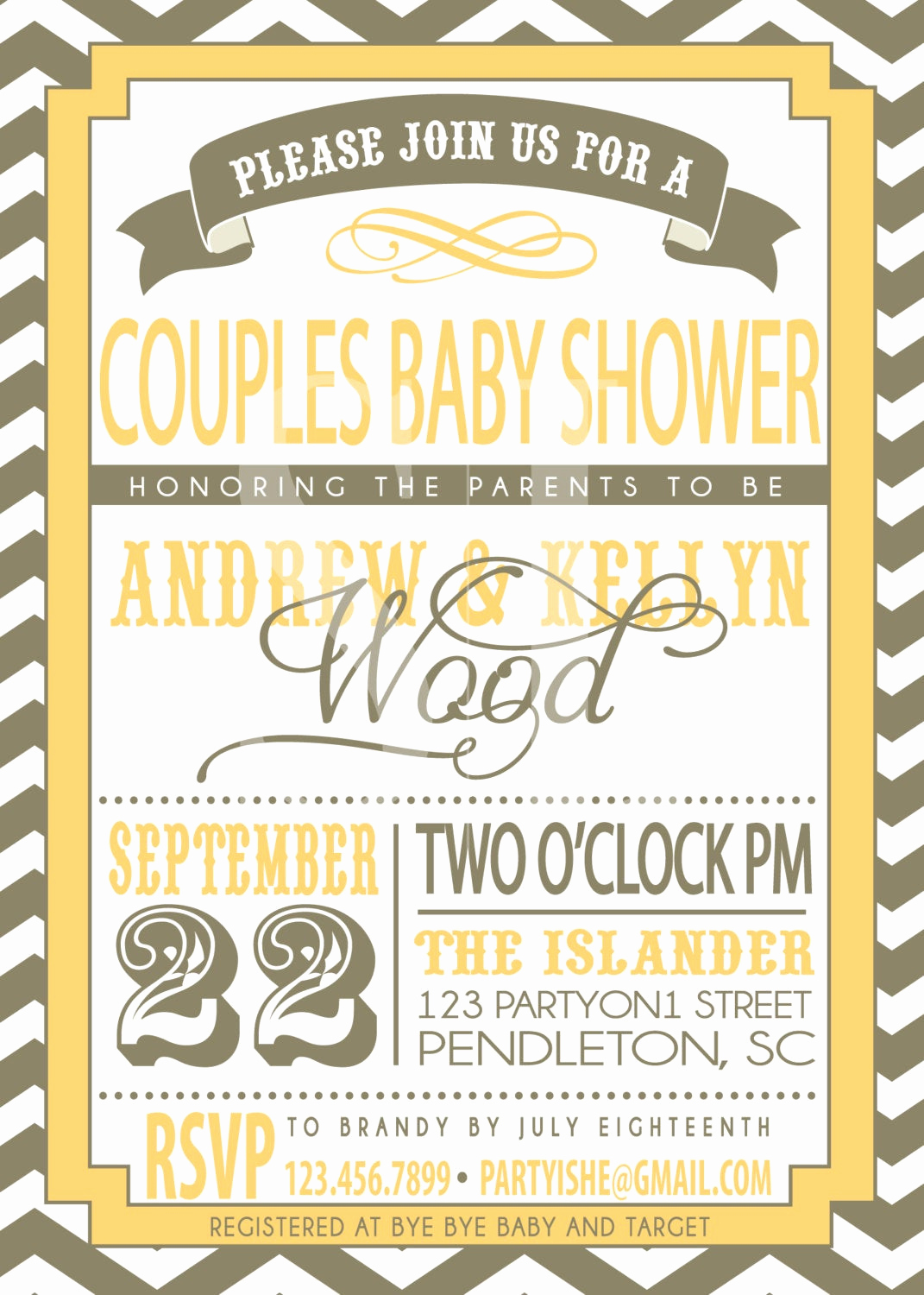 Couples Shower Invitation Templates New Couples Baby Shower Invitation
