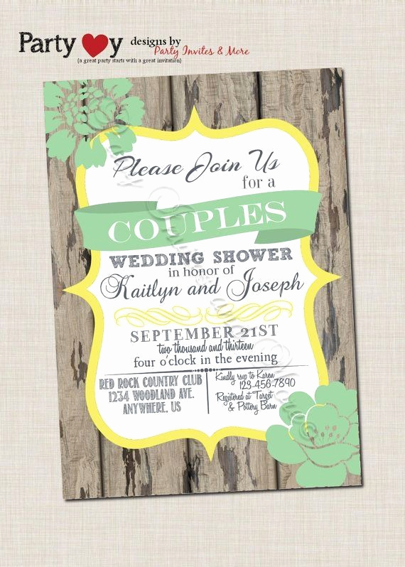 Couples Wedding Shower Invitation Wording Awesome Couple Shower Dinner Party Invitations
