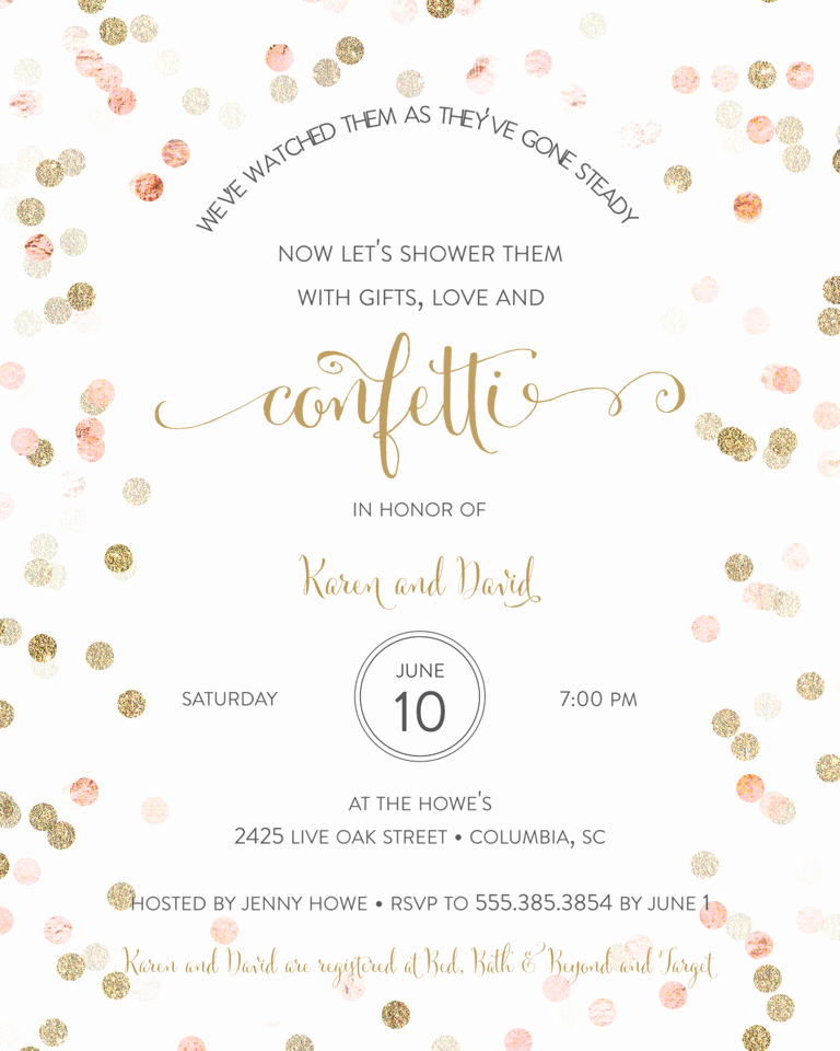 Couples Wedding Shower Invitation Wording Elegant Bridal Shower Invitation Wording Ideas and Etiquette