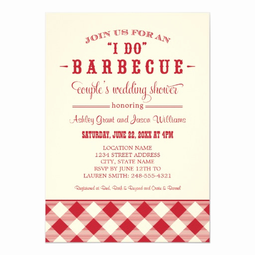 couples wedding shower invitation i do bbq