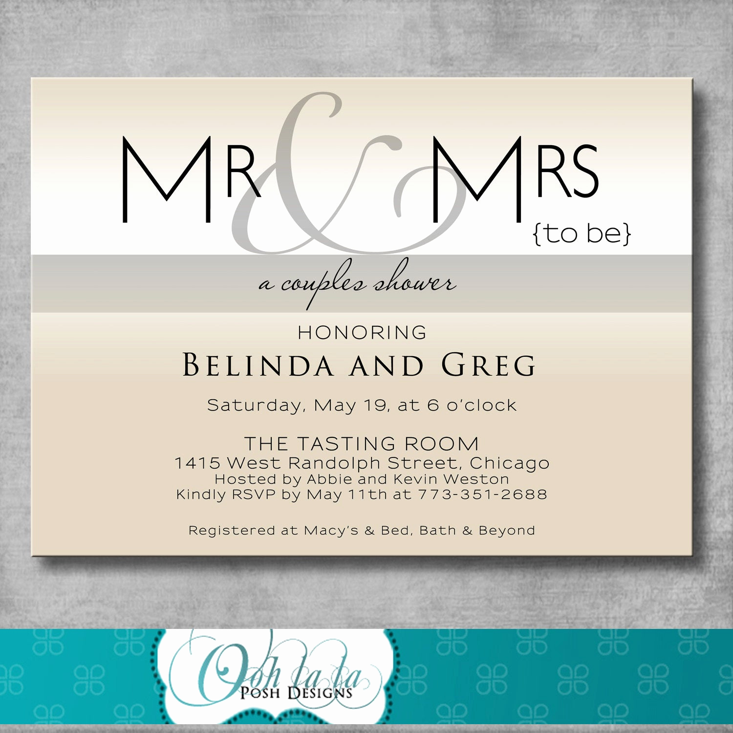 Couples Wedding Shower Invitation Wording Lovely Printable Couples Shower Invitation Modern Mr & Mrs
