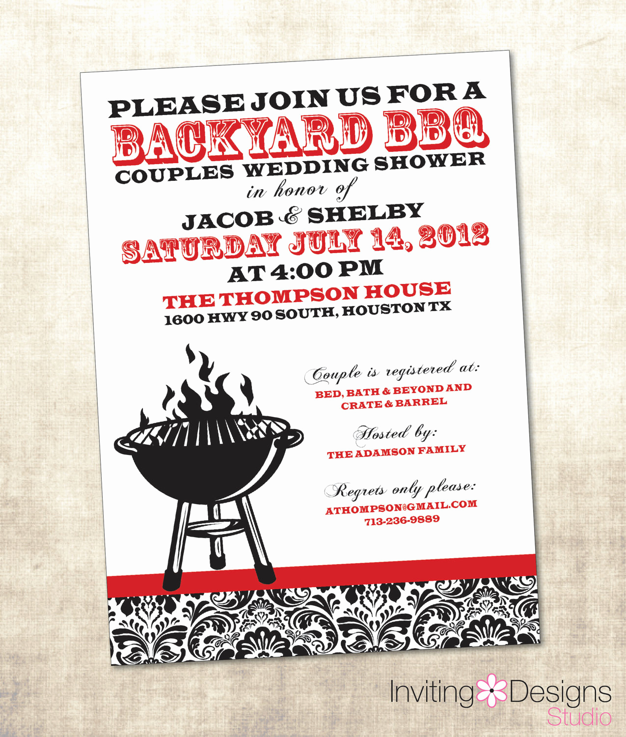 Couples Wedding Shower Invitation Wording Luxury Bbq Wedding Shower Invitation Couples by Invitingdesignstudio