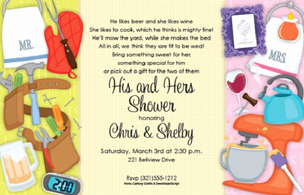 Couples Wedding Shower Invitation Wording New Bridal Shower Invitations Easyday