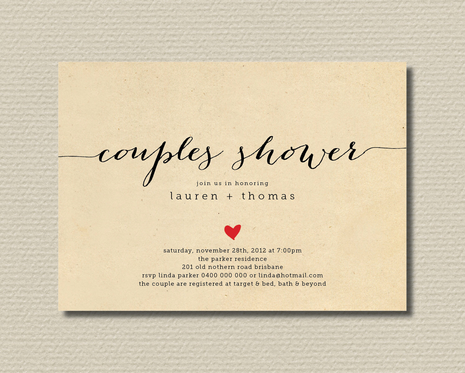 Couples Wedding Shower Invitation Wording New Printable Couples Shower Invitation Simple & by Rosiedaydesign