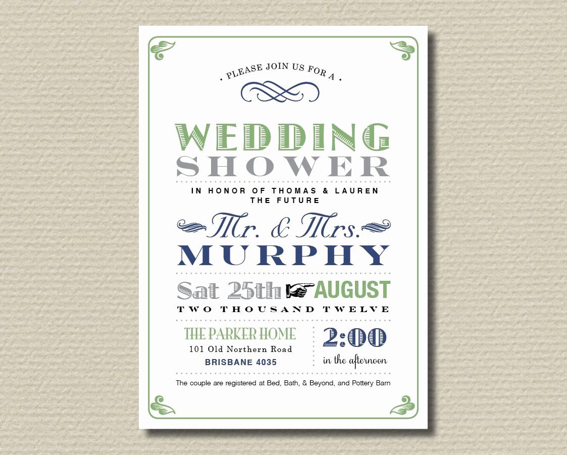 Couples Wedding Shower Invitation Wording New Printable Couples Wedding Shower Invitation Poster