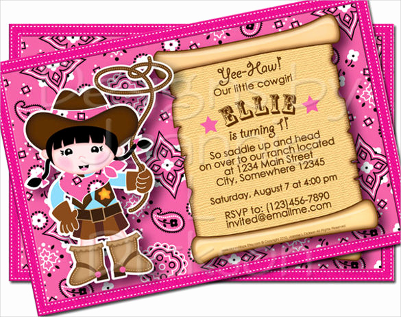 Cowgirl Invitation Template Free Awesome 19 Email Birthday Invitation Templates – Psd Ai