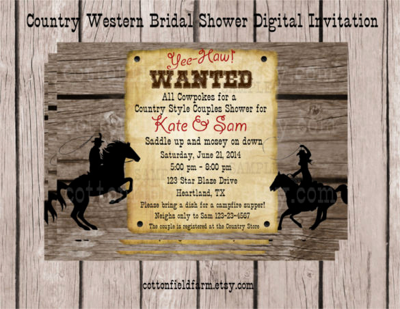 Cowgirl Invitation Template Free Awesome 28 Western Wedding Invitation Templates – Free Sample