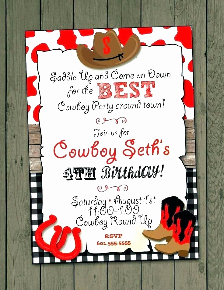 Cowgirl Invitation Template Free Awesome Cowgirl Birthday Invitations Templates – Tracenumberr