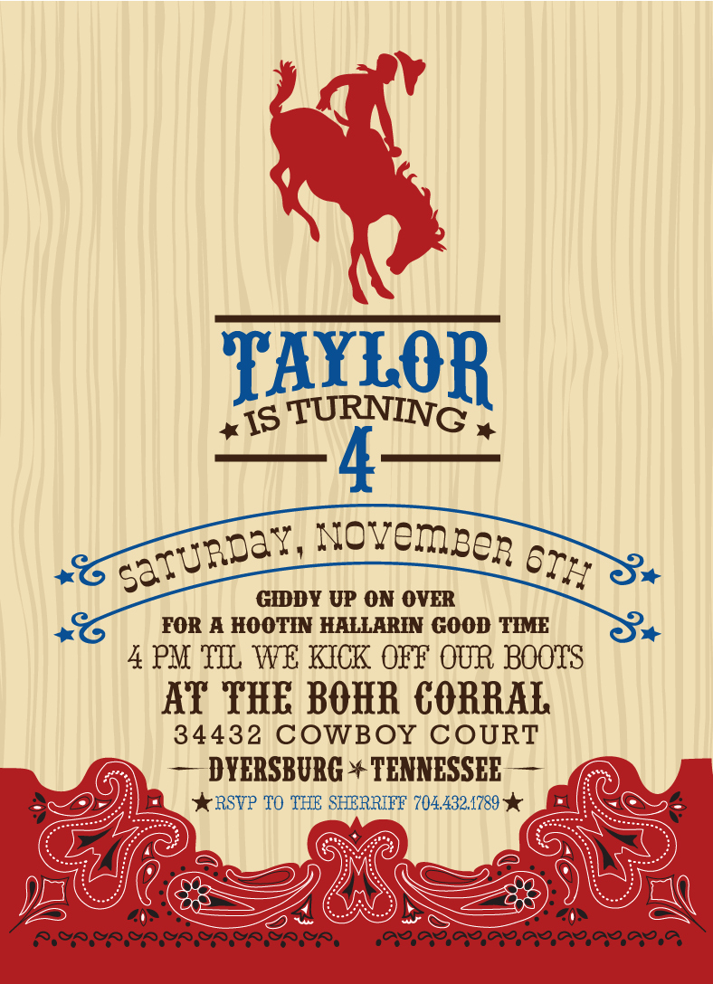 Cowgirl Invitation Template Free Beautiful A Cowboy Party that Will Make You Want to Giddy Up